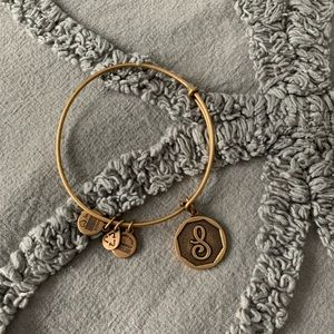 "NWOT Alex and Ani ""S"" Initial Bracelet"